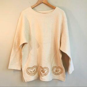 Bogner Embroidered Cotton Tunic In Cream